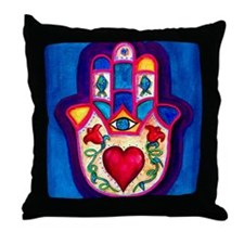 Heart Hamsa by Rossanna Nagli Throw Pillow