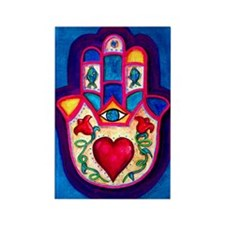 Heart Hamsa by Rossanna Nagli Rectangle Magnet