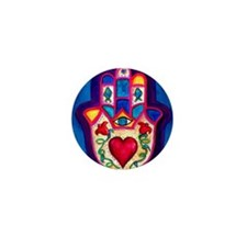 Heart Hamsa by Rossanna Nagli Mini Button
