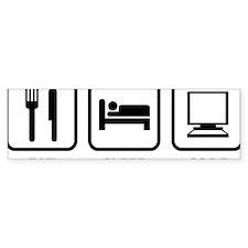 eatSleepCode1A Bumper Sticker