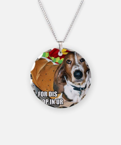 Grumpy Basset Necklace