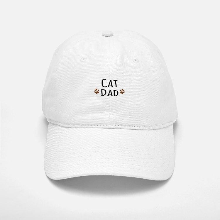 Cat Dad Baseball Baseball Baseball Cap