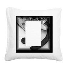 Hockey Gear Square Canvas Pillow