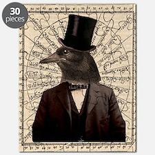 Victorian Steampunk Gentleman Crow Puzzle