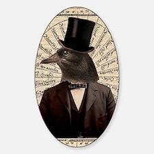 Victorian Steampunk Gentleman Crow Decal