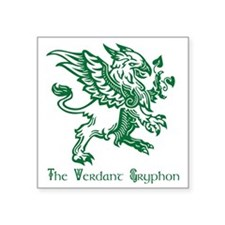 "The Verdant Gryphon Square Sticker 3"" x 3"""