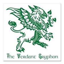 "The Verdant Gryphon Square Car Magnet 3"" x 3"""