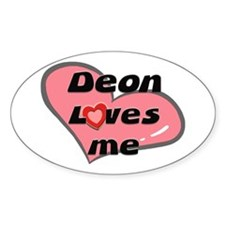 deon loves me Oval Decal