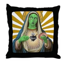 Virgin Mary Zombie Throw Pillow