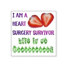 "HeartSurgerySurvivor Square Sticker 3"" x 3"""