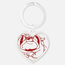 Organic Bulldog Ryan Fitted T Heart Keychain