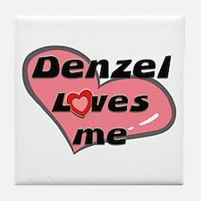 denzel loves me  Tile Coaster