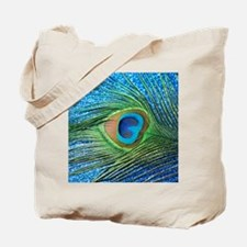 peacock blue shower curtain Tote Bag