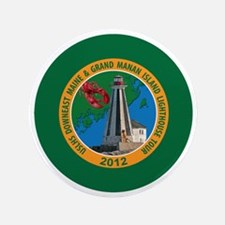 "Downeast Maine Lighthouse Tour 3.5"" Button"