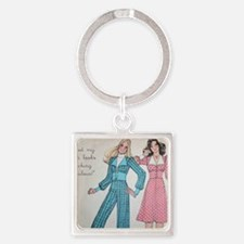 70s hair postcard Square Keychain