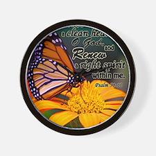 create in me - Psalm 51:10 Wall Clock