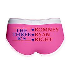 Three-Rs-Bumper-Sticker Women's Boy Brief