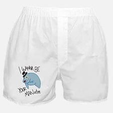 MANatee Black Boxer Shorts
