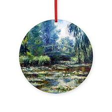 Claude Monet Bridge Round Ornament
