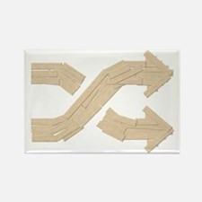 Shuffle Boards Rectangle Magnet