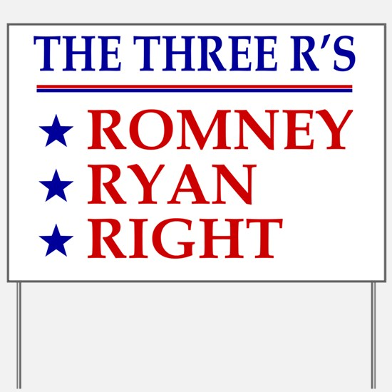 Three-Rs-Centered Yard Sign