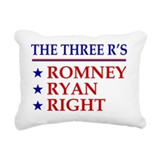 Three-Rs-Centered Rectangular Canvas Pillow