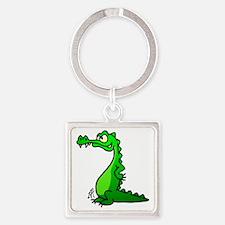 Crocodile Square Keychain