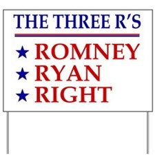 Three-Rs Yard Sign