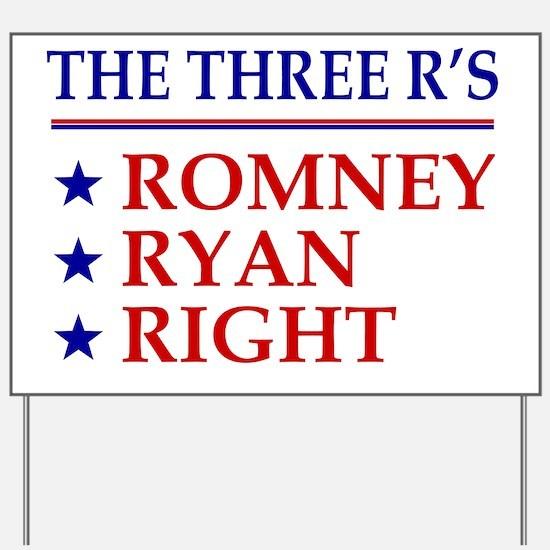 Three-Rs Yard Sign