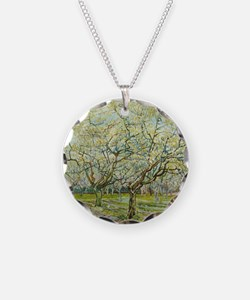 Van Gogh White Orchard Necklace