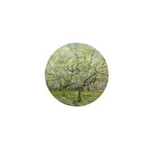 Van Gogh White Orchard Mini Button