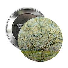 "Van Gogh White Orchard 2.25"" Button"