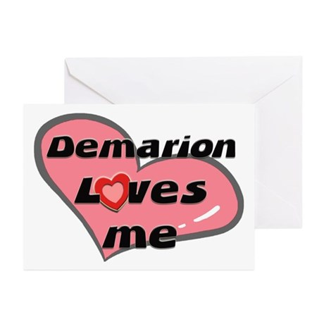 demarion loves me Greeting Cards (Pk of 10)