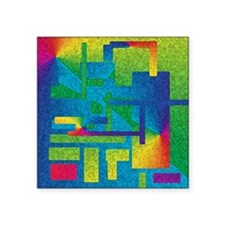"Bold Spectrum Square Sticker 3"" x 3"""