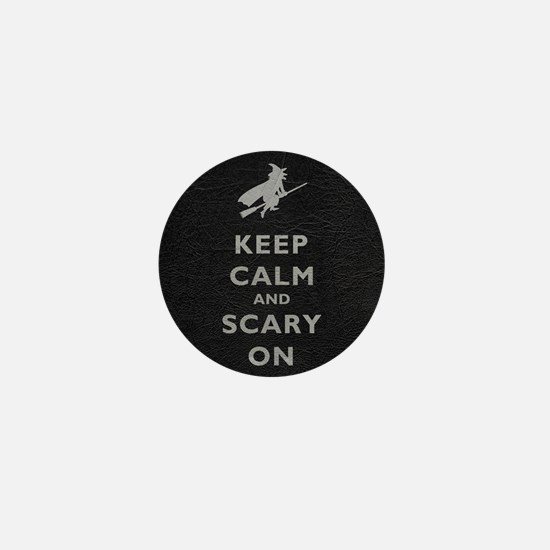 Keep Calm And Scary On Mini Button