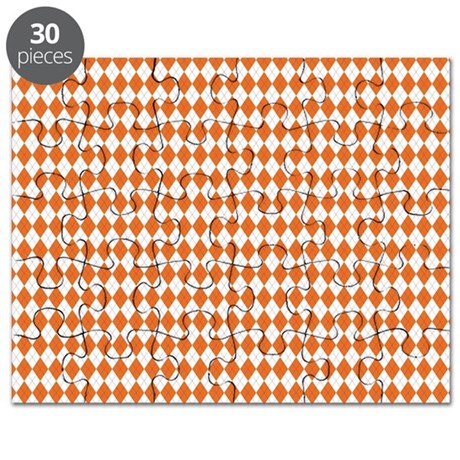 Clemson Argyle Sock Pattern South Carolina Puzzle