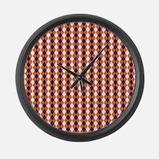 Clemson Argyle Sock Pattern South Large Wall Clock