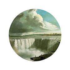 """John Vanderlyn Niagara Falls from Tabl 3.5"""" Button"""