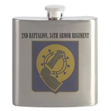 2nd Battalion, 34th Armor Regiment with Text Flask