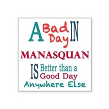 "Manasquan Square Sticker 3"" x 3"""