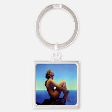 Maxfield Parrish Stars Square Keychain
