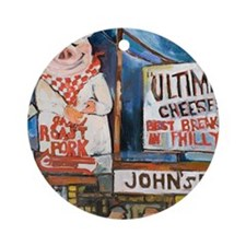Philadelphia Johns Roast Pork Round Ornament