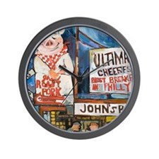 Philadelphia Johns Roast Pork Wall Clock