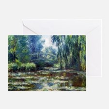 Monet Bridge Over Water Lily Pond Greeting Card