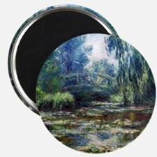 Monet Bridge Over Water Lily Pond Magnet