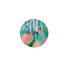 Flamingo party Mini Button