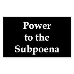 Power to the Subpoena! Rectangle Decal