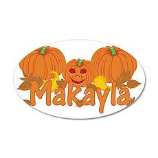 Halloween Pumpkin Makayla 35x21 Oval Wall Decal