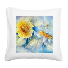 Sunflowers SQ2 Square Canvas Pillow