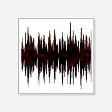 """Synthesized Army Audio Wave Square Sticker 3"""" x 3"""""""